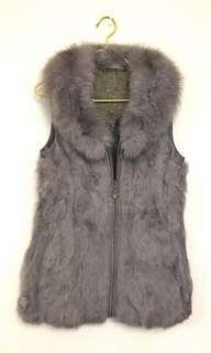 Fur Vest 淺紫色背心皮草