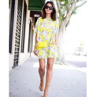 Mika & Gala - Yellow Floral Shift Dress RRP $99