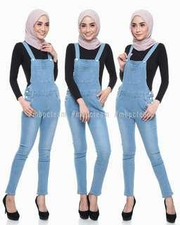 Softblue Overall Jeans