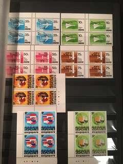 Singapore block of four um mint sets