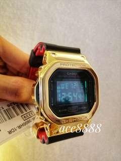 Casio G-Shock Full Metal DW5600 Gold Silver Custom