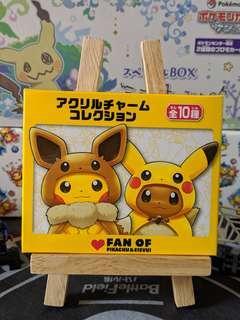 [Keychain] Fan Of Pikachu & Eevee Acrylic Charm