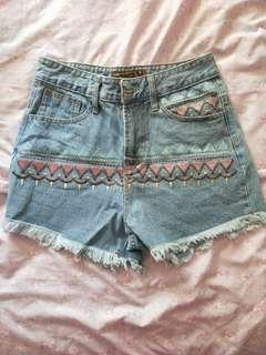 Tribal Highwaist Shorts