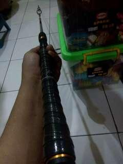 Joran alat pancing stick golf carbon solid sutet