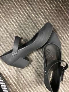 Jelly Bunny Boanda Black Heels Rubber