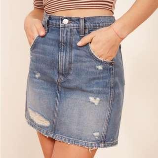 Reformation Sami Skirt in Denim Size 25