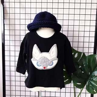 🚚 正韓 女童狐狸🦊圖案長袖上衣🎈近全新🎈