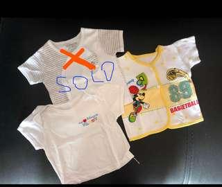 Baju pendek bayi