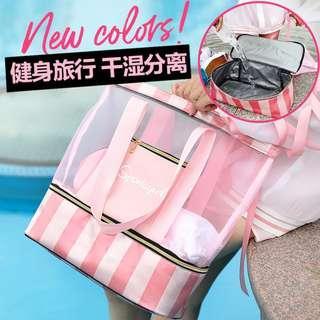 pre order pink black duffel gym bag tote  RBHB049