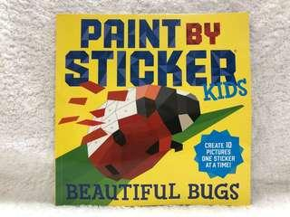 BN Brand New Paint By Sticker Kids Beautiful Bugs Coloring Book