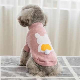 REORDER - Pet Dog Small Breed Bunny Knitted Sleeveless TOP