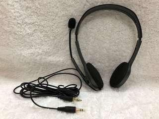 BN Brand New Authentic Logitech Headpiece Earpiece Earphone with Microphone