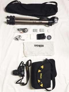 DSLR Nikon D5500 with kit lens 18-55mm