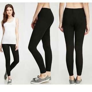 Legging leging hitam branded forever21 sisa export