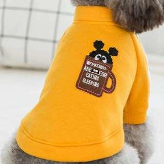 PREORDER - Pet Dog Small Breed Cup Bear T Shirt