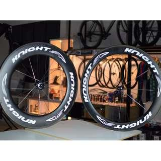 Knight Composites 65 Front 95mm Rear Carbon Clincher wheelset
