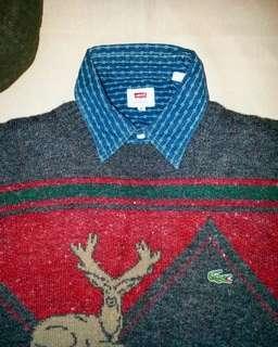🇫🇷法國製Vintage Lacoste woolly sweater (100%Vintage)