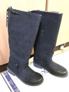 🚚 ROXY 流蘇綁帶長靴,EUR 40/USA 9,黑色,只穿過一次