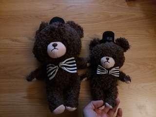 2隻 全新正版 the bears school jackie 毛公仔 大個隻33cm