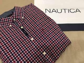 🚚 全新🇺🇸美國Nautica 帆船牌格紋襯衫 M