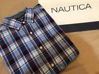 🚚 全新🇺🇸美國Nautica 帆船牌格紋襯衫 M L