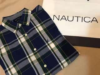 🚚 Nautica 美國帆船牌格紋襯衫 M