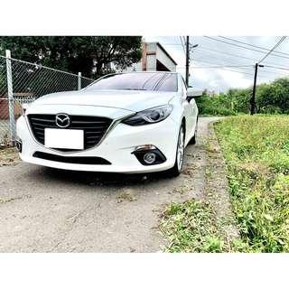 2015年Mazda 3 5D旗艦版 白帥帥 帥哥美女必備