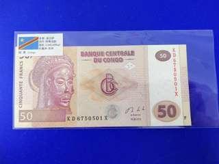 Congo UNC note