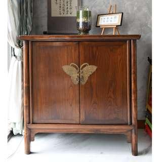Elm Wood Antique Cabinet