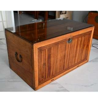 Camphor Wood Antique Book Chest