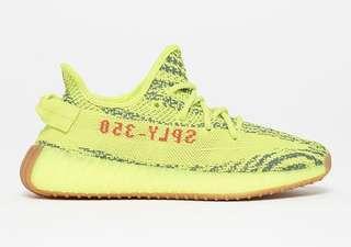 Yeezy boost 350 v2 Semi Frozen Yellow