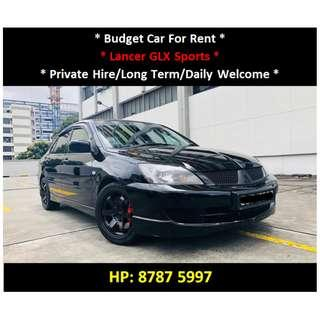 Mitsubishi Lancer Auto For Rent - Daily / Private Hire Welcome