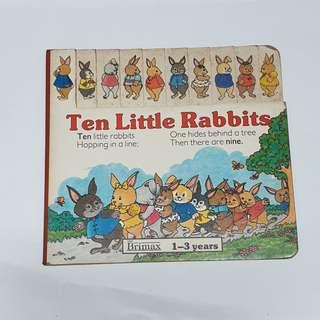 Ten Little Rabbits story book children