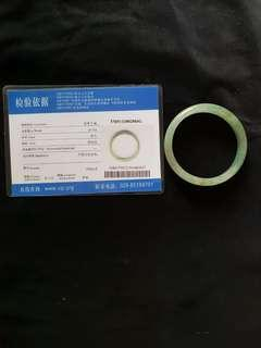 Jade A grade with Certificate 翡翠手镯 浅灰绿