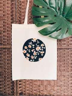 Unique One-of-a-kind Tote Bag with hand-drawn designs