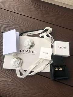 Chanel Double C Clip On Earrings