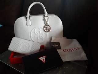 Guess White Bag & Wallet