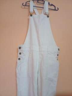 Ripped Overall White Cotton On