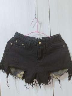 🚚 迷彩牛仔短褲(黑)