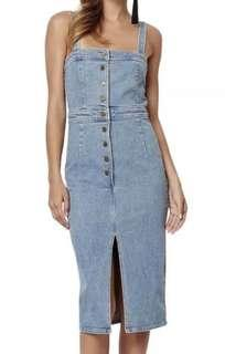 Bec & Bridge Denim Dress, Size 8
