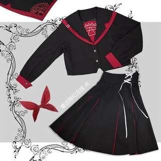 Magical Dark JK uniform  (long sleeve short skirt)