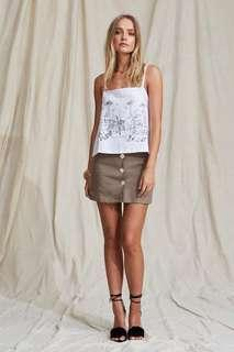 Maurie & Eve Sintra Linen Mini Skirt, Size 8 BNWT