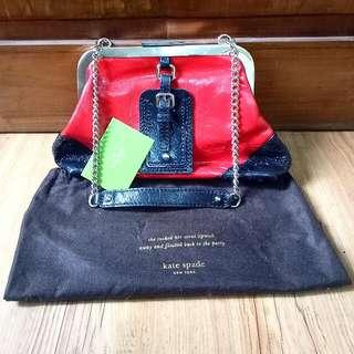 Kate Spade Shoulder Bag Authentic Red & Black