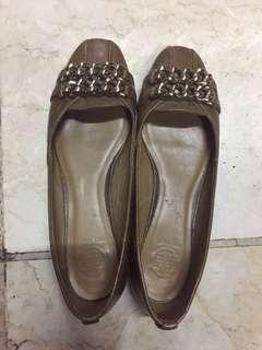 Tory Burch leather flat shoes size 40