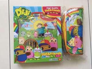 Didi & friends art set & pencil case