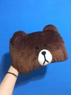 🚚 熊大暖手枕頭娃娃套(二手