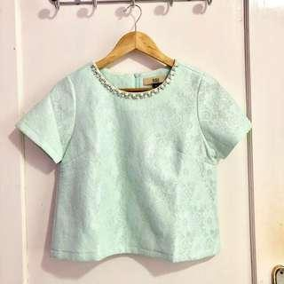 Mint Beads Top