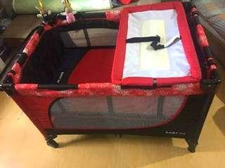 (REPRICED)Baby 1st Playpen/Crib with Rocking Feature and Diaper Changer