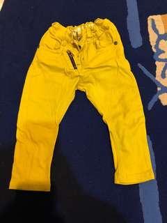 🚚 男寶-芥末黃長褲