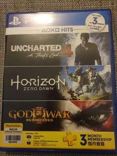 Unchartered 4 and Horizon Zero Dawn. 2 top selling PS4 games!